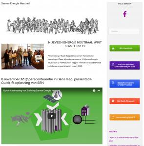 Website Samen Energie Neutraal