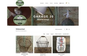website webwinkel Garage20