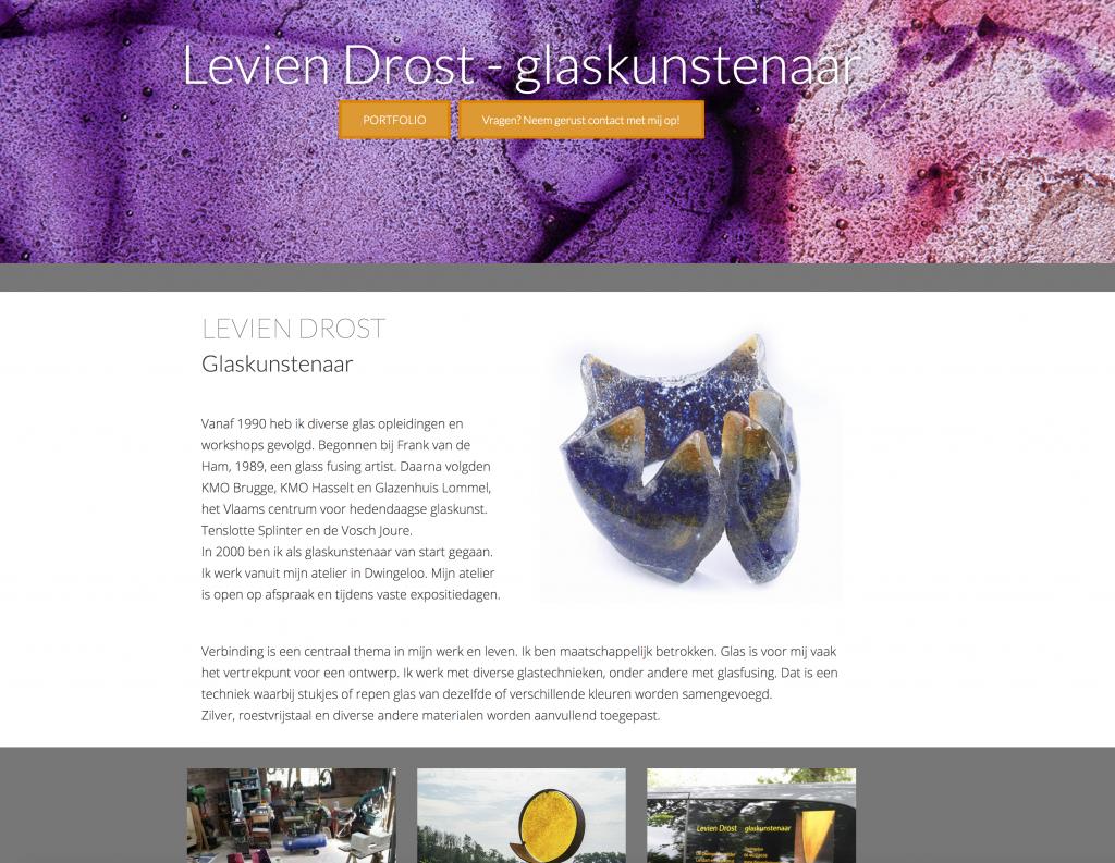 Website glaskunstenaar