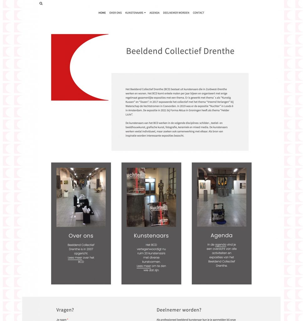 homepagina website BCD
